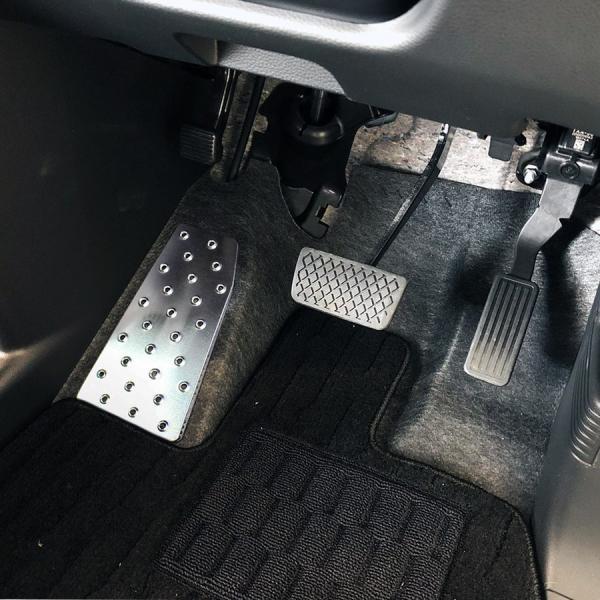 N-VAN N VAN NVAN アルミ フットレスト ペダルカバー 専用設計 足置き 運転席 カスタム パーツ 内装 ドレスアップ Nバン エヌバン|doresuup|04