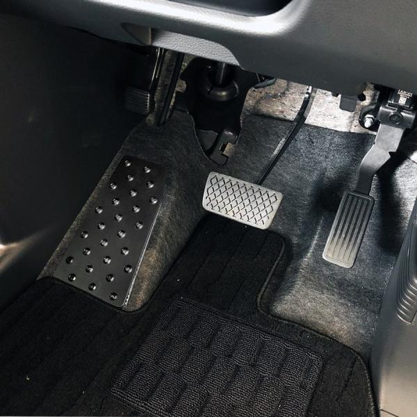 N-VAN N VAN NVAN アルミ フットレスト ペダルカバー 専用設計 足置き 運転席 カスタム パーツ 内装 ドレスアップ Nバン エヌバン|doresuup|05