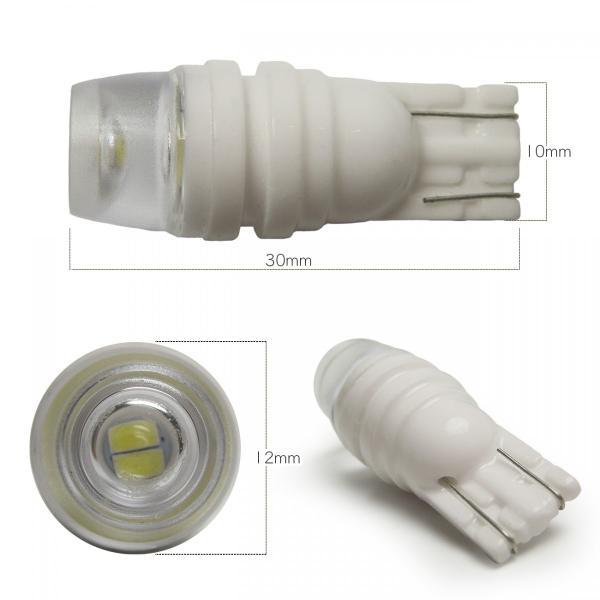 T10 T16 LED ポジションランプ ポジション球 ポジション灯 バルブ 1W 2個セット ホワイト ブルー セラミック 放熱陶器 集光レンズ|doresuup|02