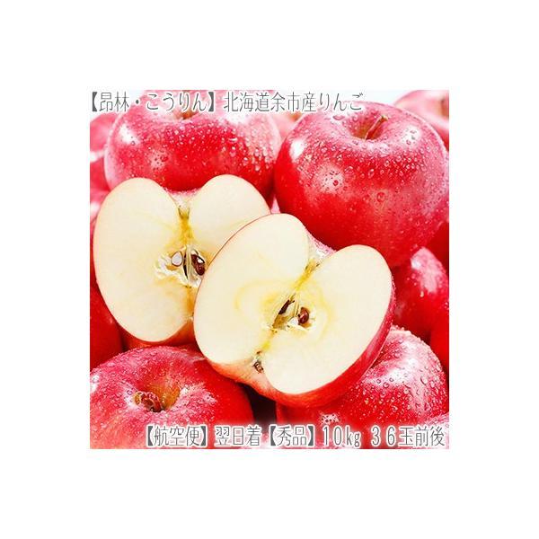 (送料無料 りんご リンゴ 北海道産)昂林 こうりん 10kg 36玉前後(JA北海道 余市産 収穫日に空輸で翌日着!秋リンゴ 最高級 秀品 北海道ブランド)