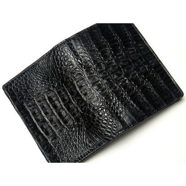 386083e84fb7 ... 名刺入れ 本革 カイマンクロコダイル カードケース ブラック 黒|double-art| ...