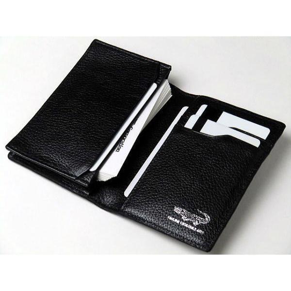 80125eb6acd1 ... 名刺入れ 本革 カイマンクロコダイル カードケース ブラック 黒|double-art|03