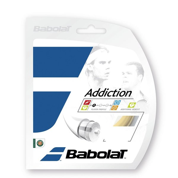 バボラ アディクション(BA241078) 30%OFF 硬式テニスガット ナイロンストリング シンセティックストリング、ナイロンガット