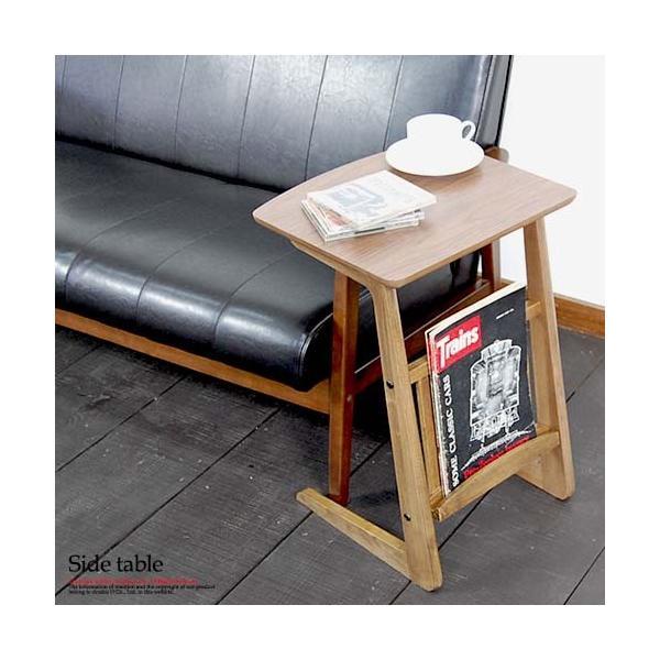 サイドテーブル ウォールナット 木製テーブル センターテーブル リビングテーブル レトロ アンティーク カフェインテリア double-oo
