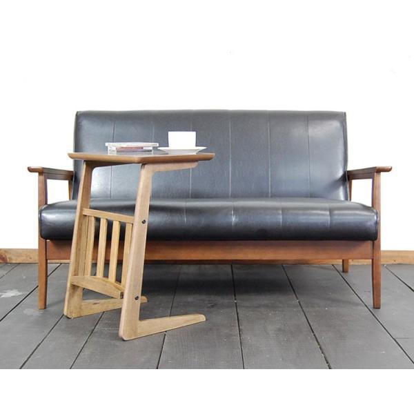 サイドテーブル ウォールナット 木製テーブル センターテーブル リビングテーブル レトロ アンティーク カフェインテリア double-oo 03