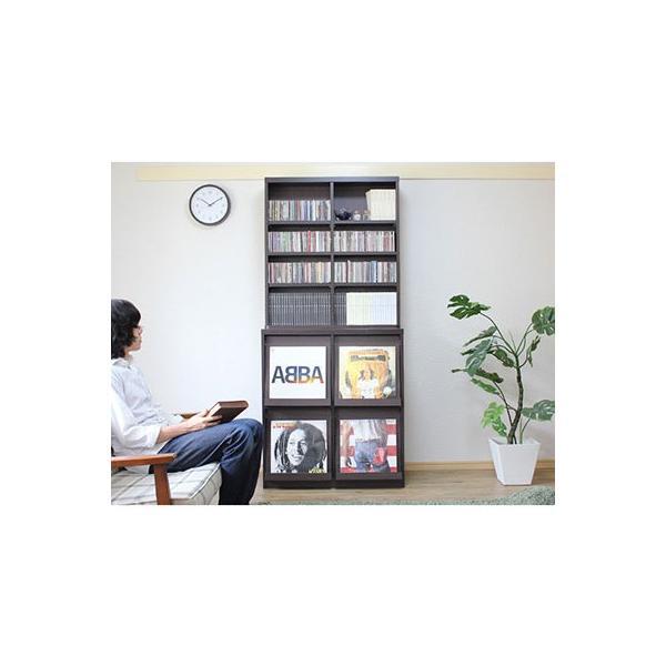 レコードラック レコード収納  レコード ラック LP 収納 収納棚 ディスプレイラック 収納ラック|double-oo|04
