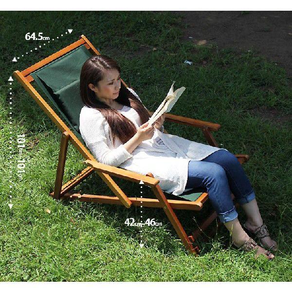 デッキチェア デッキチェアー 木製チェアー アウトドア レジャー用 ガーデン家具 ガーデンチェアー|double-oo|06