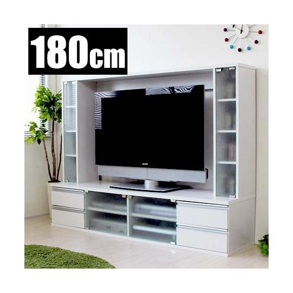 テレビボード おしゃれ テレビ台 白 木製 北欧 幅180cm ハイタイプ 収納 リビング 壁面収納 サイドボード