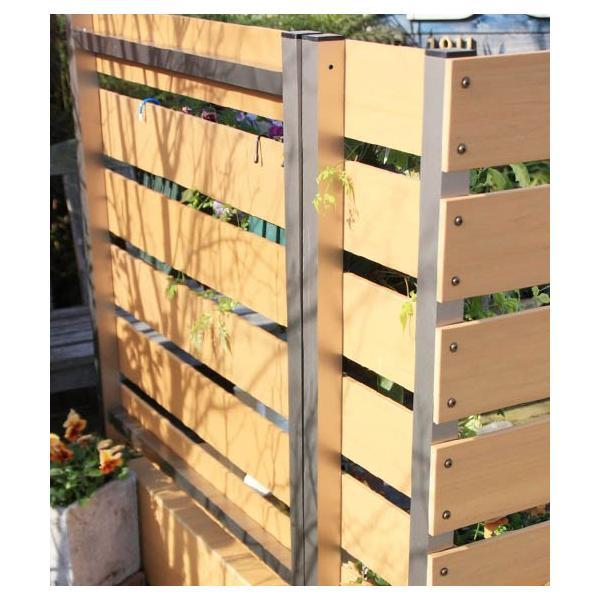 目隠しフェンス 目隠し フェンス 樹脂 人工木 人工木フェンス プランターボックス プランター付きフェンス ラティス 隣家|double-oo|07