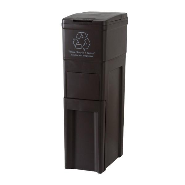 ゴミ箱 スリム キッチン ふた付き 42L ブラウン ダストボックス おしゃれ double 02