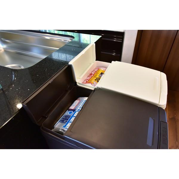 ゴミ箱 スリム キッチン ふた付き 42L ブラウン ダストボックス おしゃれ double 03