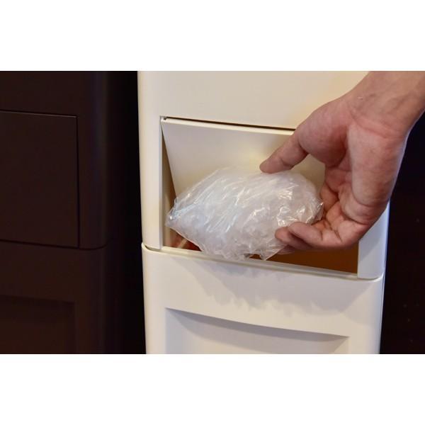 ゴミ箱 スリム キッチン ふた付き 42L ホワイト ダストボックス おしゃれ|double|04