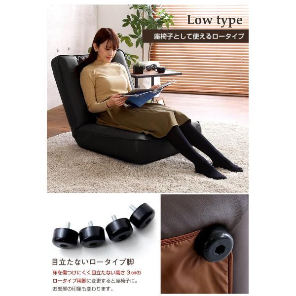 ハイバックソファー 1人掛け おしゃれ PVCレザー ポケットコイル使用 3段階リクライニング 日本製 double 12
