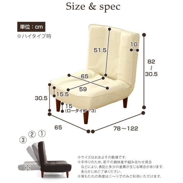 ハイバックソファー 1人掛け おしゃれ PVCレザー ポケットコイル使用 3段階リクライニング 日本製 double 20