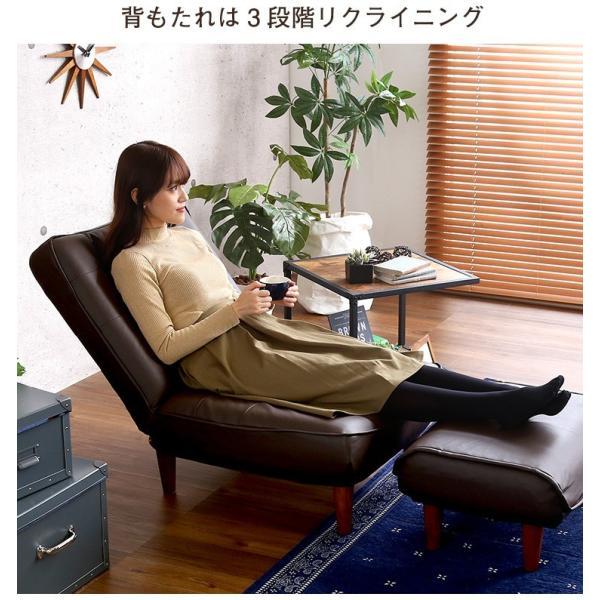 ハイバックソファー 1人掛け おしゃれ PVCレザー ポケットコイル使用 3段階リクライニング 日本製 double 08
