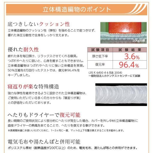 マットレス シングル 薄型・高反発 体圧分散 通気 衛生 リバーシブル 日本産 double 06