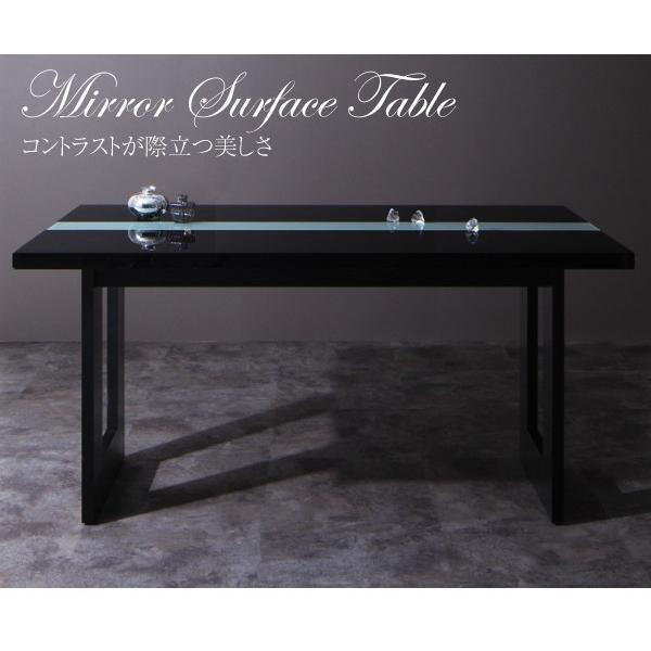 ダイニングテーブルセット 4人掛け おしゃれ 5点セット(テーブル150+チェア4脚) モダン ハイバック ブラック 黒 ホワイト 白|double|08