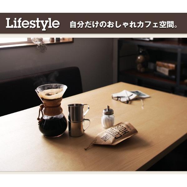 ダイニングテーブルセット 6人掛け おしゃれ 4点セット(テーブル120+ソファ+左アームソファ+ベンチ) モダンカフェ風|double|07