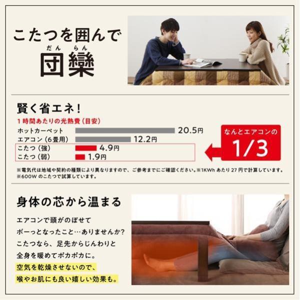 こたつ布団セット 4尺長方形(80×120cm)対応 おしゃれ お部屋をひろびろ使える チェック柄 薄掛け 掛敷布団2点セット