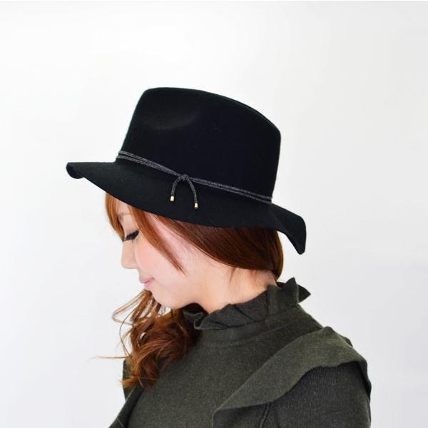 キャセリーニ casselini ナローコードハット ハット ウールハット フェルトハットフエルトハット レディース つば広 女優帽|doubleheart
