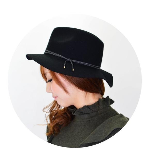 キャセリーニ casselini ナローコードハット ハット ウールハット フェルトハットフエルトハット レディース つば広 女優帽|doubleheart|04