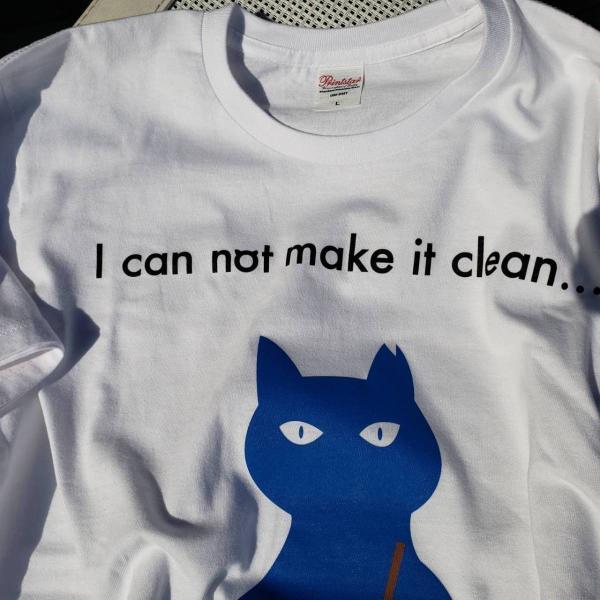 青い猫Tシャツ doubutu-kikin 02