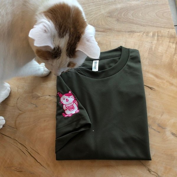 招き猫Tシャツ|doubutu-kikin|02
