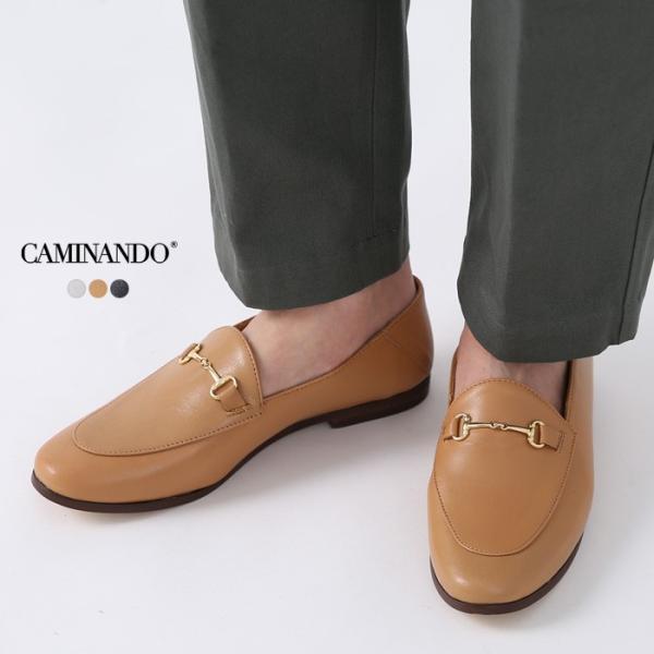 **【20AWコレクション】CAMINANDO〔カミナンド〕2034Wレザービットスリッポンローファー|douceharmonie-ndc