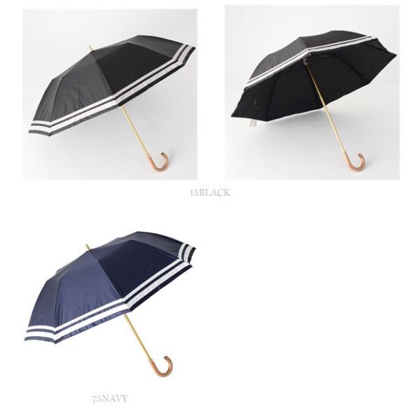 **【19SSコレクション】Athena New York〔アシーナニューヨーク〕ANY-07P晴雨兼用グログランリボンボーダーパイピング折りたたみ傘