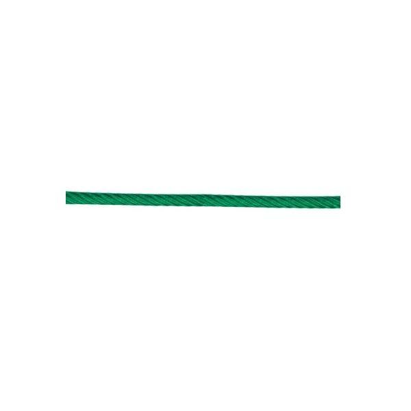 ビニール被覆ワイヤ 6X24G/O 径8〜10mm 長さ200m 透明緑色