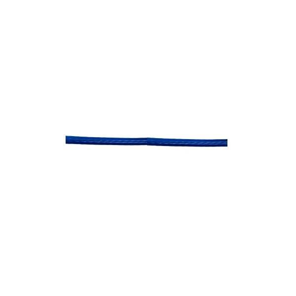 ビニール被覆ワイヤ 6X19G/O 径6〜8mm 長さ200m 不透明青色