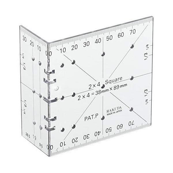RAKUDA ラクダ ■C ツーバイフォー定規(2×4木材用) 12022 便利グッズ 清水製作所