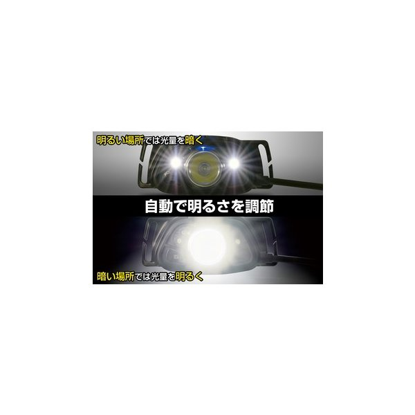 10台組 GENTOS(ジェントス) ヘッドライト ツインセンサー LED ダブルセンサー HX-133D ANSI規格準拠
