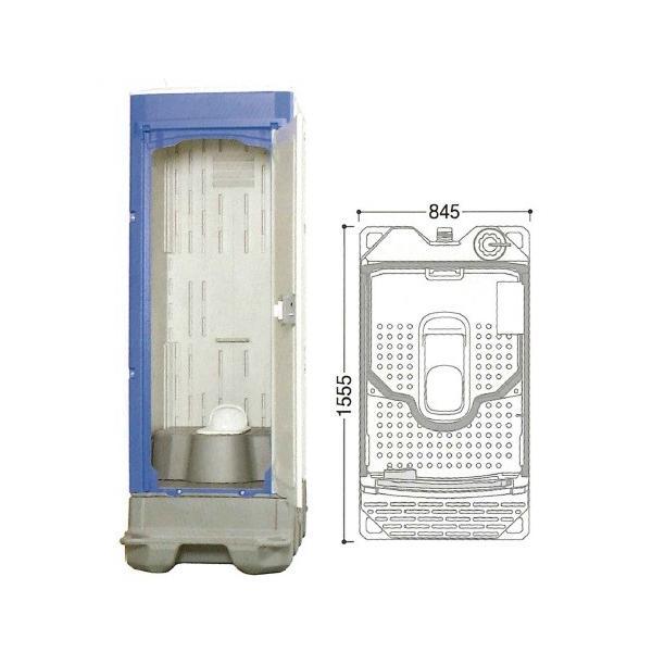 【直送品】 ハマネツ 仮設トイレ (非水洗) TU-iX (1522100) 《兼用和式タイプ》 【大型】