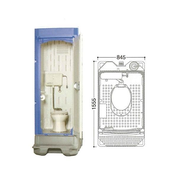 【直送品】 ハマネツ 仮設トイレ (簡易水洗) TU-iXFW (1523200) 《洋式タイプ》 【大型】