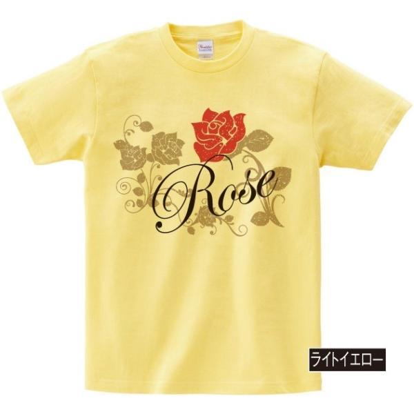 イラストTシャツ Rose バラ メンズ S〜XXXLサイズ 大きいサイズ ビッグ BIG|dpop