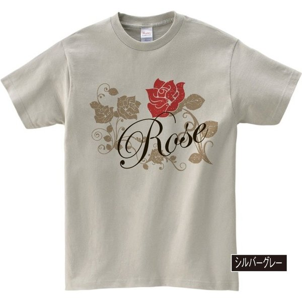 イラストTシャツ Rose バラ メンズ S〜XXXLサイズ 大きいサイズ ビッグ BIG|dpop|04