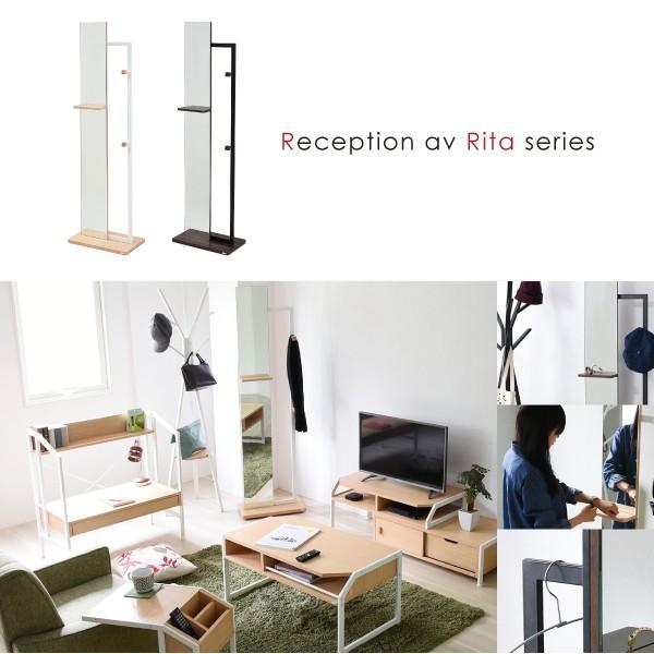ハンガーミラー 鏡 全身 ミラー 姿見 フック スタンド 木製 Rita リタ ハンガーラック 北欧 テイスト おしゃれ (jk) dr-grace 02