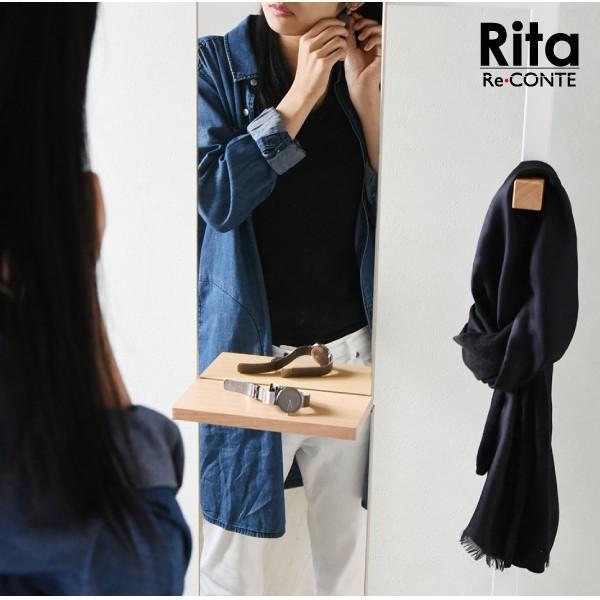 ハンガーミラー 鏡 全身 ミラー 姿見 フック スタンド 木製 Rita リタ ハンガーラック 北欧 テイスト おしゃれ (jk) dr-grace 03