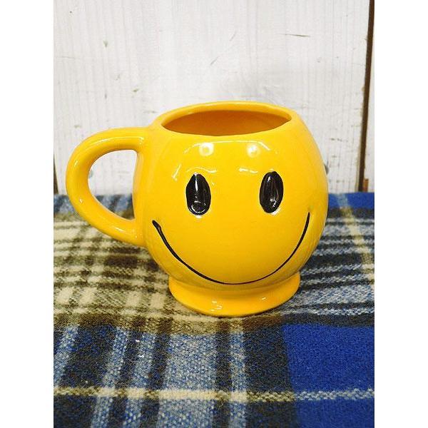 キッチンウェア古着雑貨70年代McCOYマッコイ・スマイリーマグHappy Face黄色スマイル