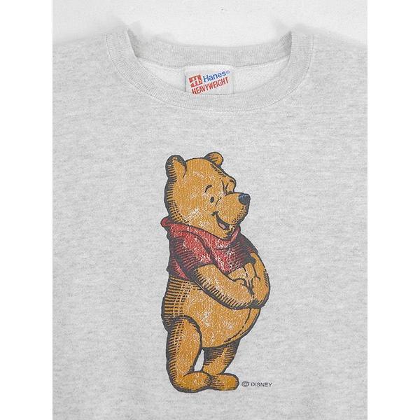古着 スウェット 90s USA製 Disney Winnie the Pooh くまのプーさん キャラクター スウェット L 古着|dracaena|03