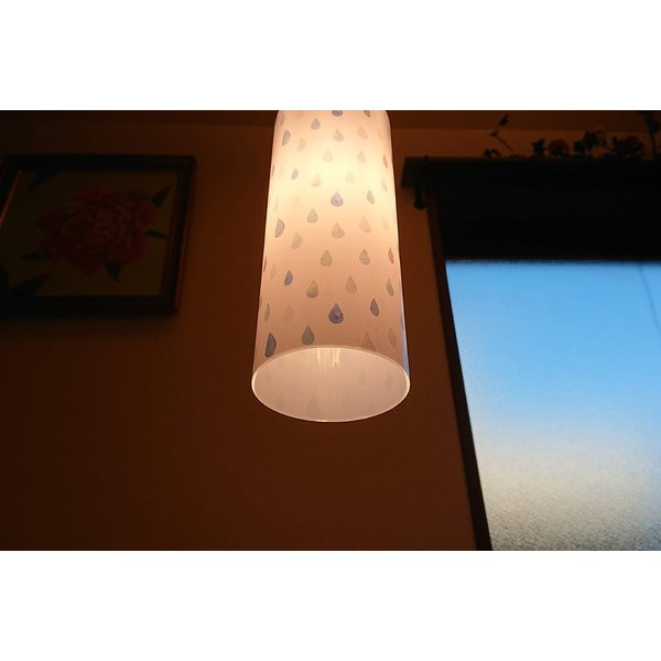 雨のしずく柄イラストランプシェード ペンダントライト1灯用 シェードのみ|dragon-child|04