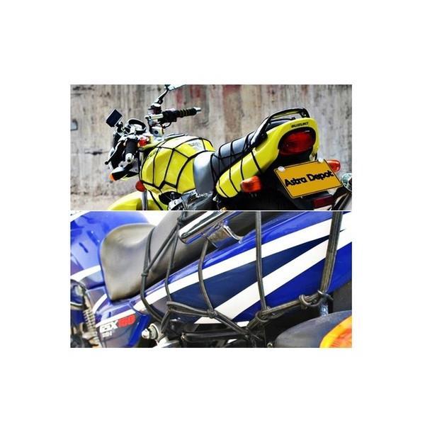 バイク用 ネット 40*40cm ツーリング ライダー 必須 フック6点 伸縮ゴム【クリックポスト送料無料】|dream-japan|03