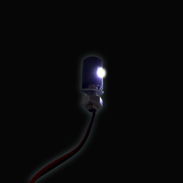 ナンバーボルト 防水 LED内蔵 ナンバー灯 2個セット(シルバー)ナンバープレートボルト【クリックポスト送料無料】|dream-japan|03