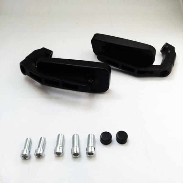 バイク用 バレン スクエアー ミラー ローポジション 角度自在 正ネジ逆ネジ変換ボルト5種(ブラック・カーボン選択可)|dream-japan|02