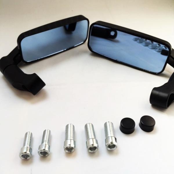 バイク用 バレン スクエアー ミラー ローポジション 角度自在 正ネジ逆ネジ変換ボルト5種(ブラック・カーボン選択可)|dream-japan|04
