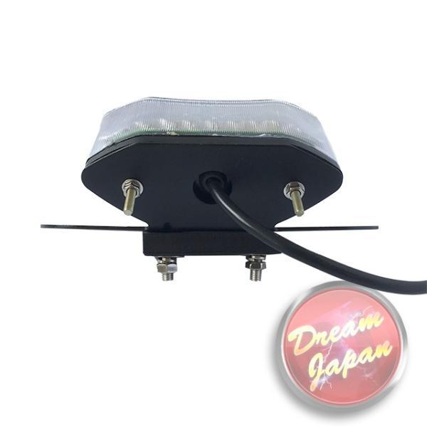 バイク LEDテールランプ ルーカステール LED20発 ウインカー 一体型  ブラック(レンズ選択)汎用/ルーカス/CB/XJ/SR/TW dream-japan 04