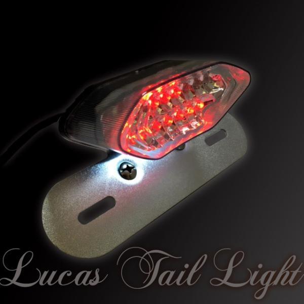 バイク LEDテールランプ ルーカステール LED20発 ウインカー 一体型  シルバー(レンズ選択)汎用/ルーカス/CB/XJ/SR/TW dream-japan 05