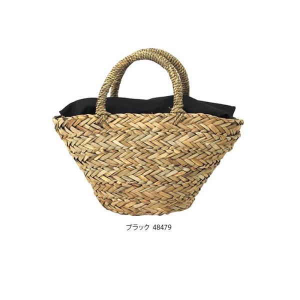 kago bag(かごバッグ) シーグラス かごバッグ テーパー型 ブラック S 48479 ABL