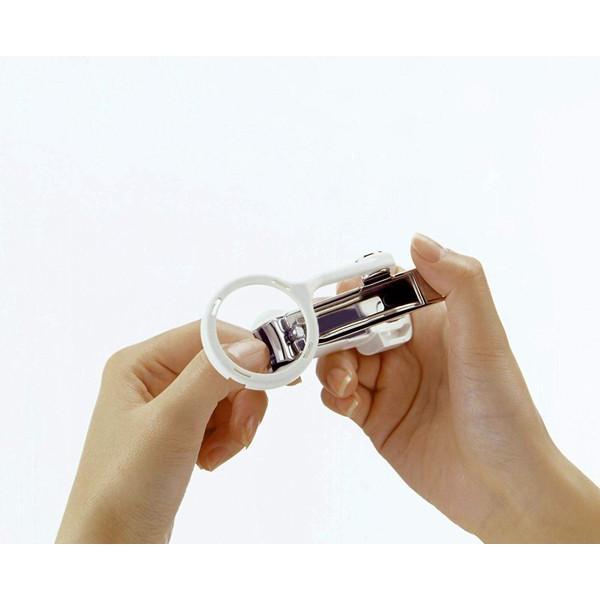 爪切り 高級 日本製 匠の技 曲線刃 ルーペ付き 拡大鏡 虫眼鏡 虫めがね つめきり つめ切り ツメ切り 巾着付き ヤスリ 足 キャッチャー付 ポイント消化 G−1004